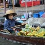 Tailândia: o Mercado Flutuante e a Ponte do rio Kwai