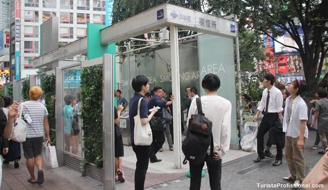 proibido fumar no japão