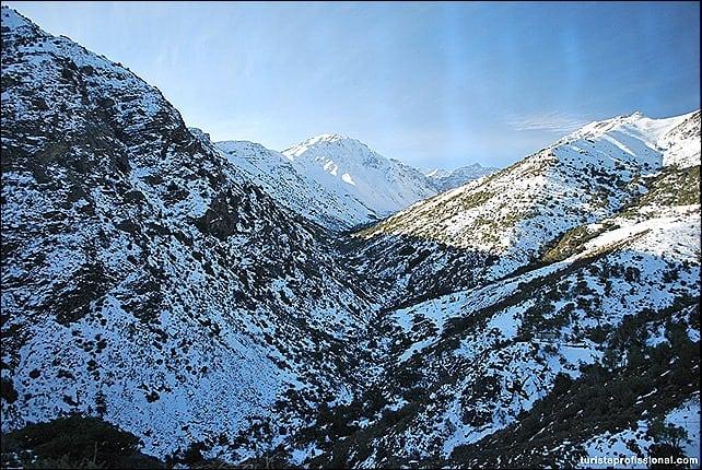 Visual das montanhas