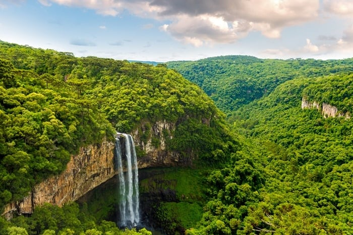 dicas da região sul cascata do caracol